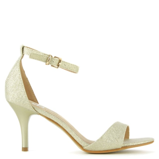 DF By Daniel Waverton Gold Glitz One Strap Sandal