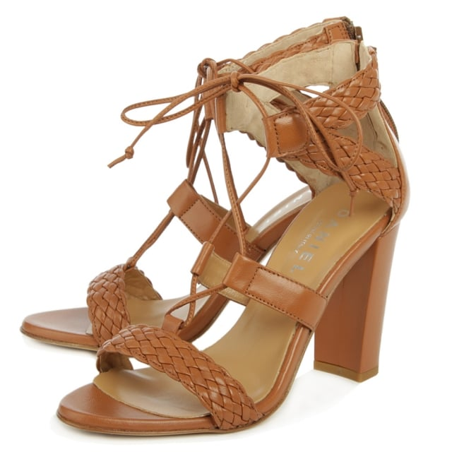 Daniel Palm Springs Tan Leather Woven Sandal