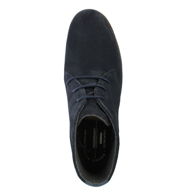 Rockport Chukka Navy Suede Lace Up Desert Boot