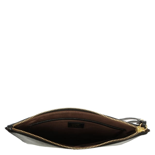 Lauren by Ralph Lauren Tate Everything Black Leather Pouch