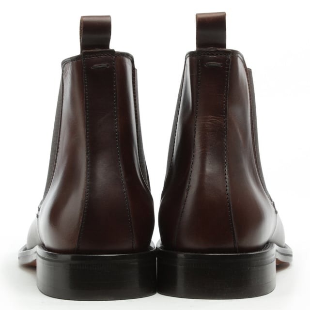 Daniel Halmshaw Brown Leather Chelsea Boot