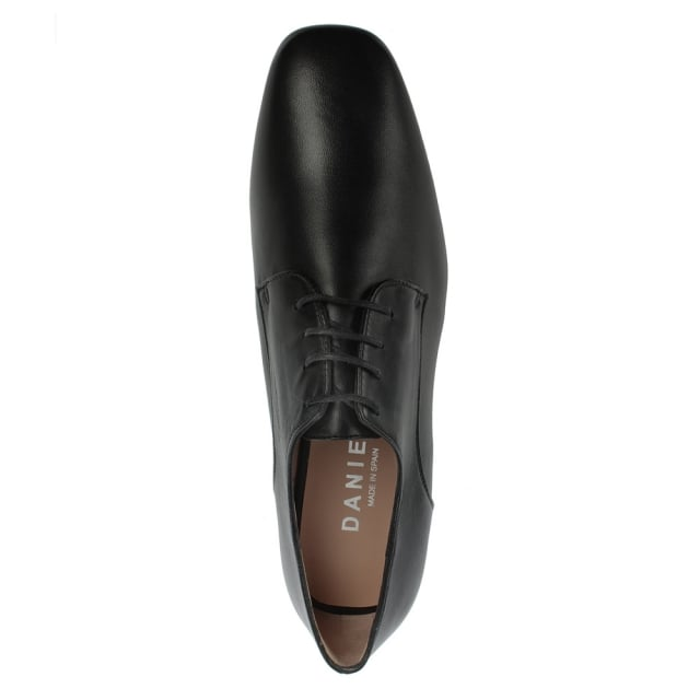 Daniel Monroe Black Leather Lace Up Slab Shoe