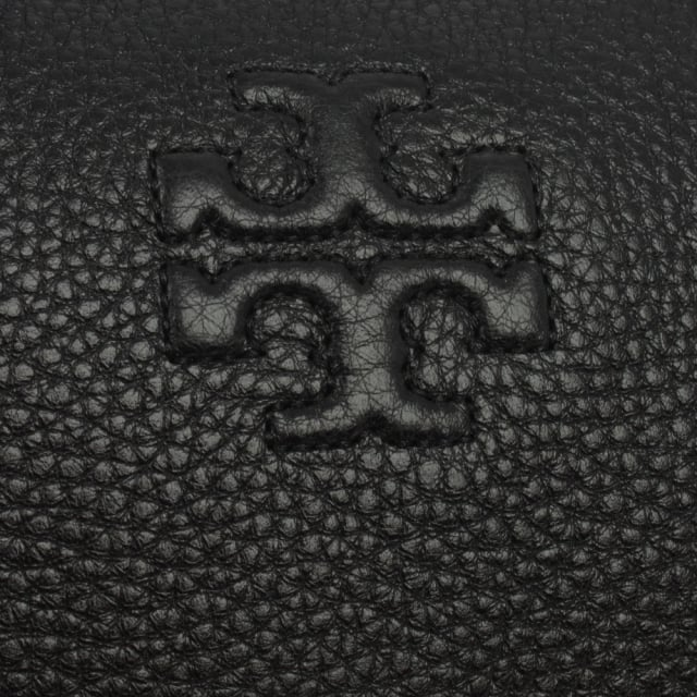 Tory Burch Thea Black Leather Medium Slouchy Satchel
