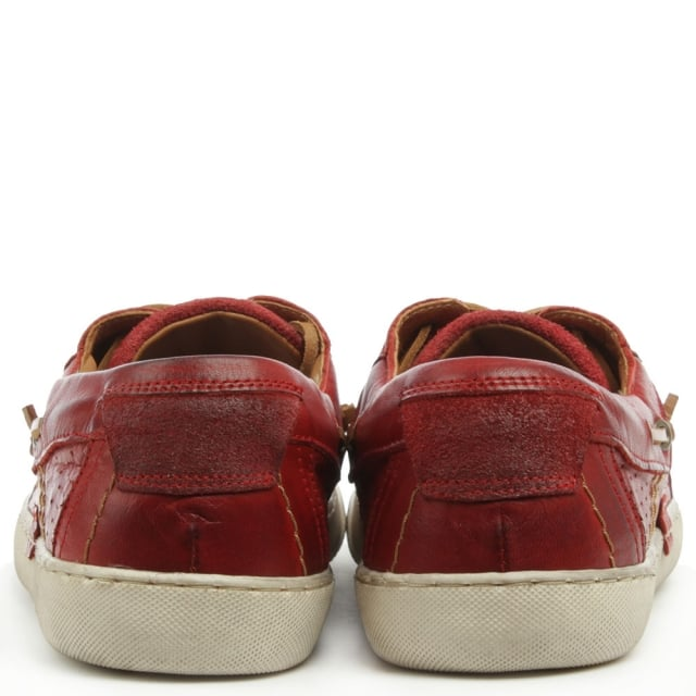 Daniel Aberdare Red Leather Deck Shoe