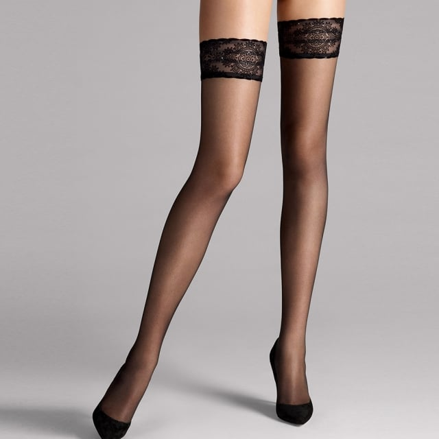 Wolford Glam Stay Up Black Women's Stockings