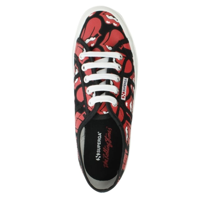 Superga 2750 Red Rolling Stones Lace Up Trainer