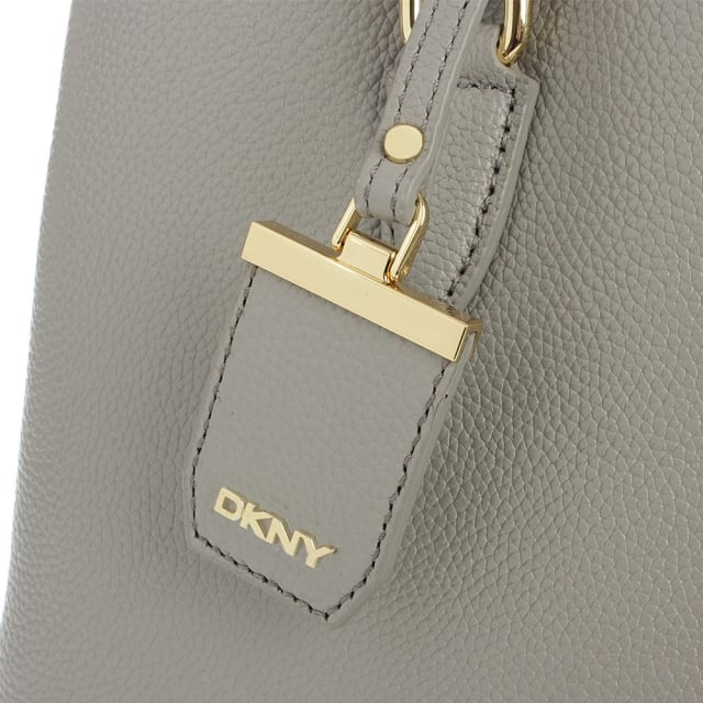 DKNY Chelsea Grey Leather Structured Shopper