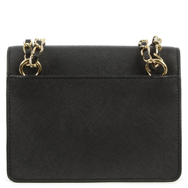 DKNY Bryant Mini Flap Black Leather Cross-Body Bag