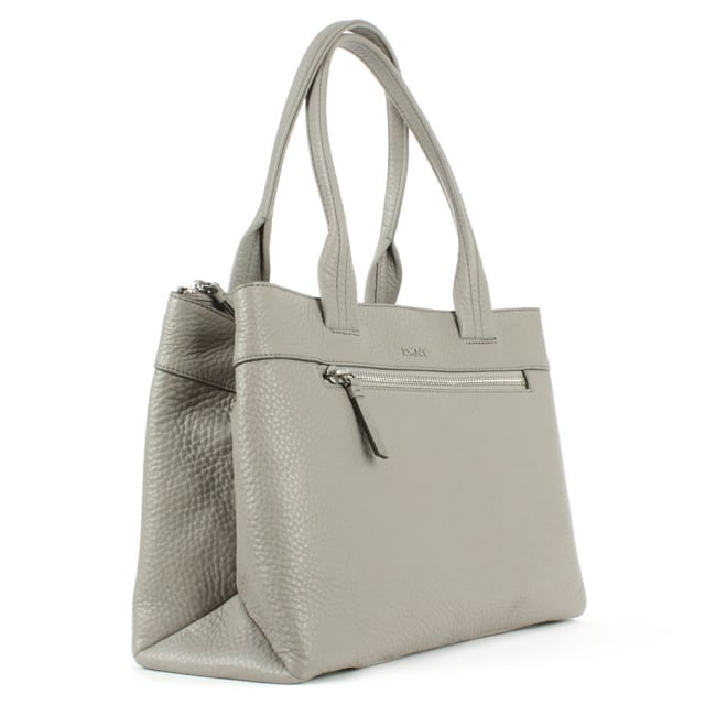 DKNY Tribeca Grey Tumbled Leather Shopper