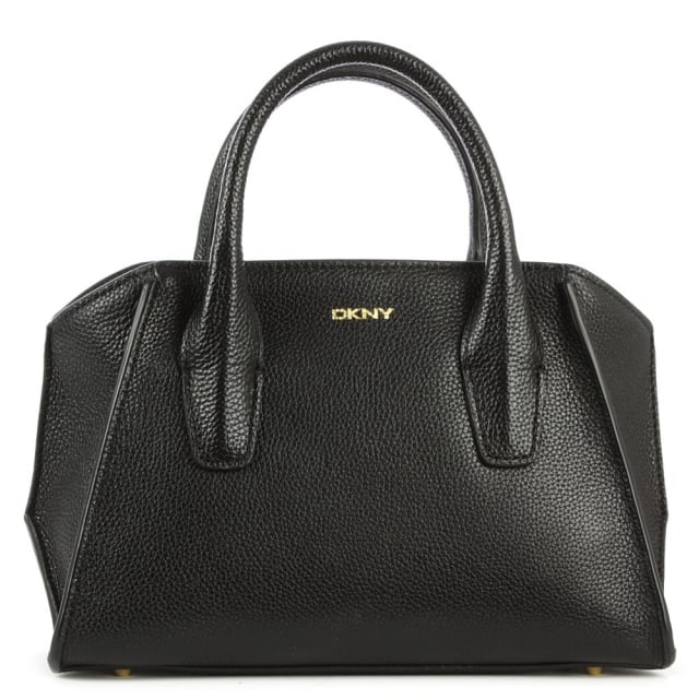 DKNY Chelsea Mini Black Leather Satchel Bag