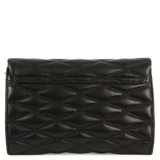 DKNY Gansevoort Quilted Black Nappa Leather Cross-Body Bag