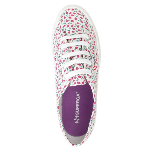 Superga Liberty 2750 Ed Fuxia Floral Lace Up Trainer