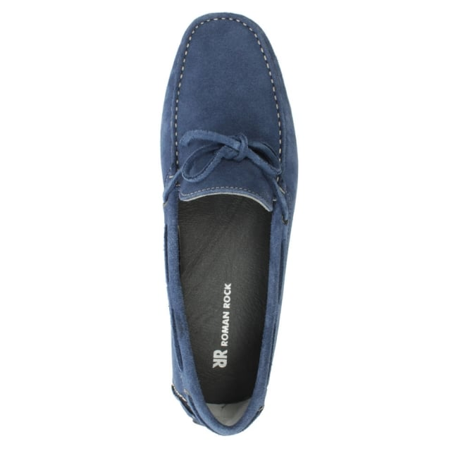 Roman Rock Rocky 104 Blue Suede Driving Moccasin