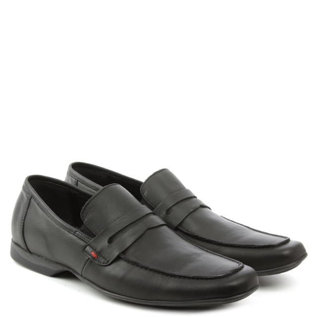 Roman Rock Rocky 100 Black Leather Saddle Loafer