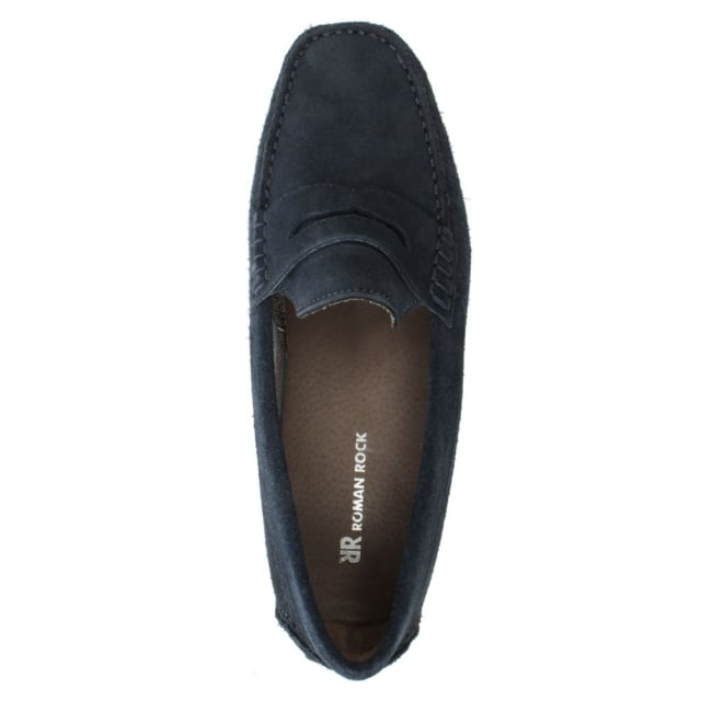 Roman Rock Rocky 103 Navy Suede Loafer