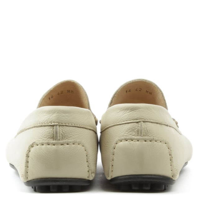 Roman Rock Rocky 109 Smooth Beige Leather Loafer