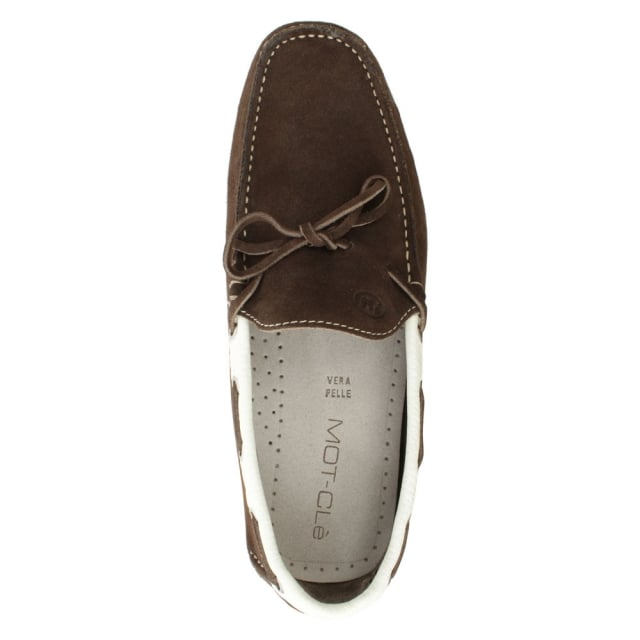 Roman Rock Rocky 110 Brown Suede Contrast Driving Moccasin