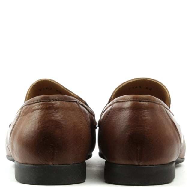 Roman Rock Rocky 100 Brown Leather Saddle Loafer