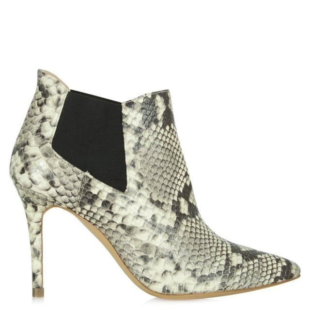 Daniel Bond Street Black Reptile Leather Ankle Boot