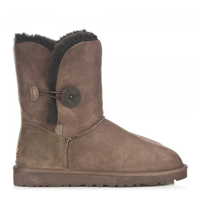 UGG Bailey Button Chocolate Women's Flat Calf Boot