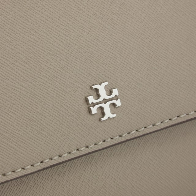 Tory Burch Robinson Convertible French Grey Leather Shoulder Bag