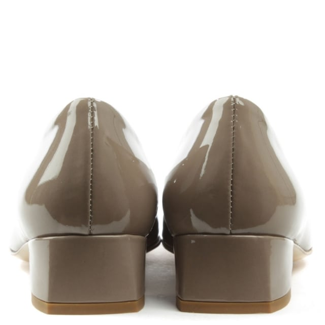 Daniel Thousand Palms Beige Patent Leather Fringed Pump