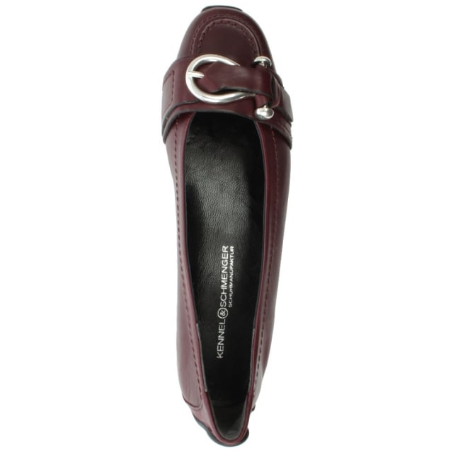 Kennel & Schmenger Huxley Burgundy Leather Buckle Front Pump