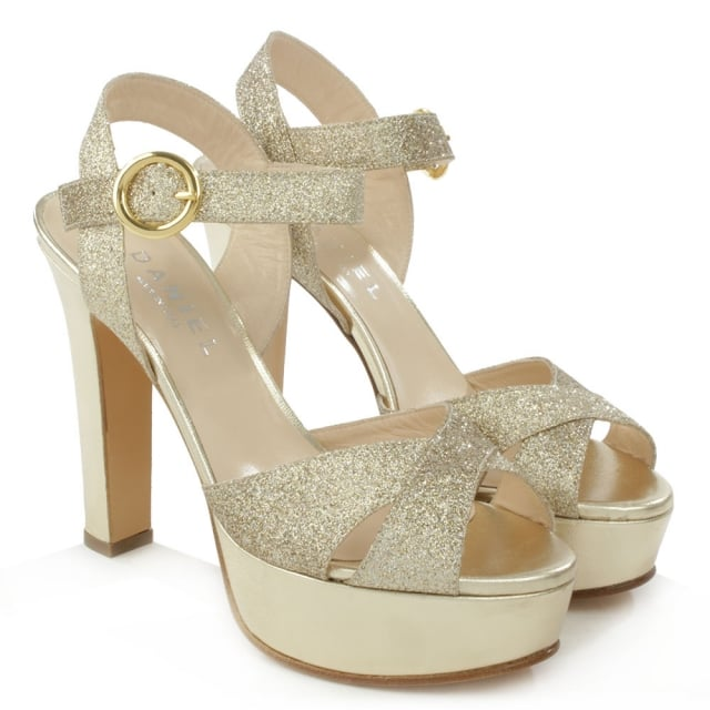 Daniel Dasher Gold Metallic Platform Sandal