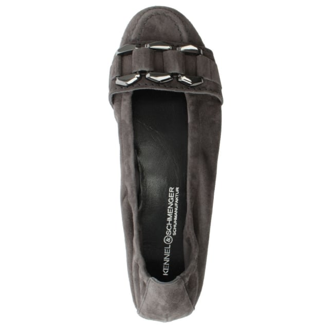 Kennel & Schmenger Cleated Grey Suede Loafer