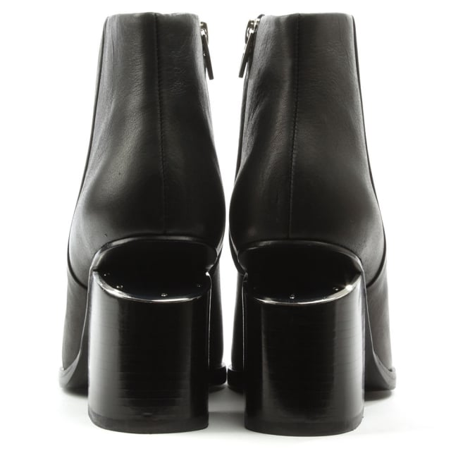 Alexander Wang Gabi Black Leather Ankle Boot