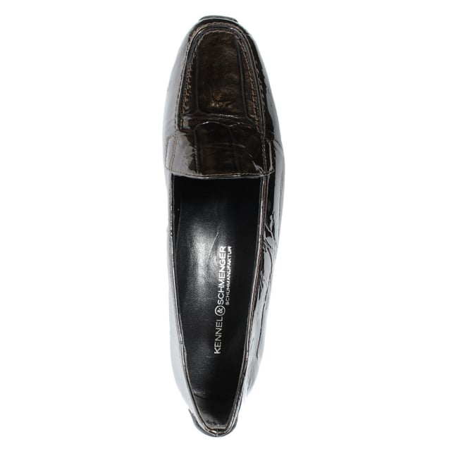 Kennel & Schmenger Cadogan Gold Patent Leather Loafer