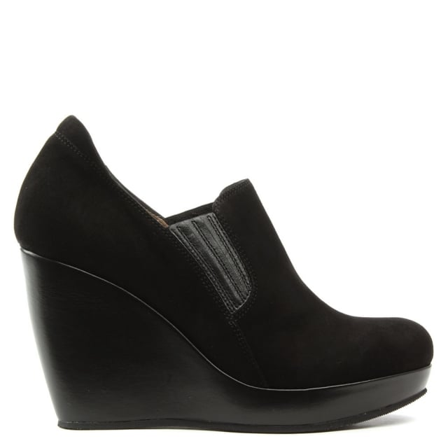 Daniel By Kelton Kaleigh Black Suede Wedge Shoe