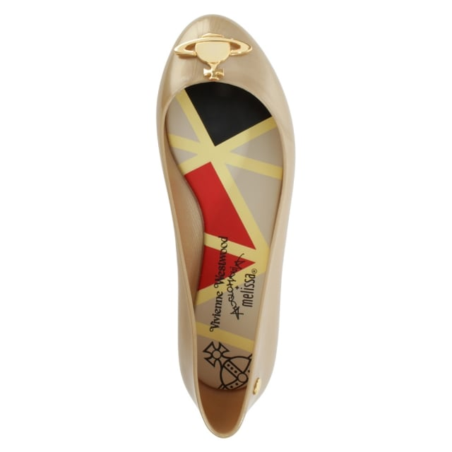 Vivienne Westwood Space Love Gold Pealized Orb Ballet Flat