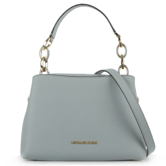 Michael Kors Portia Small Blue Saffiano Leather Shoulder Bag