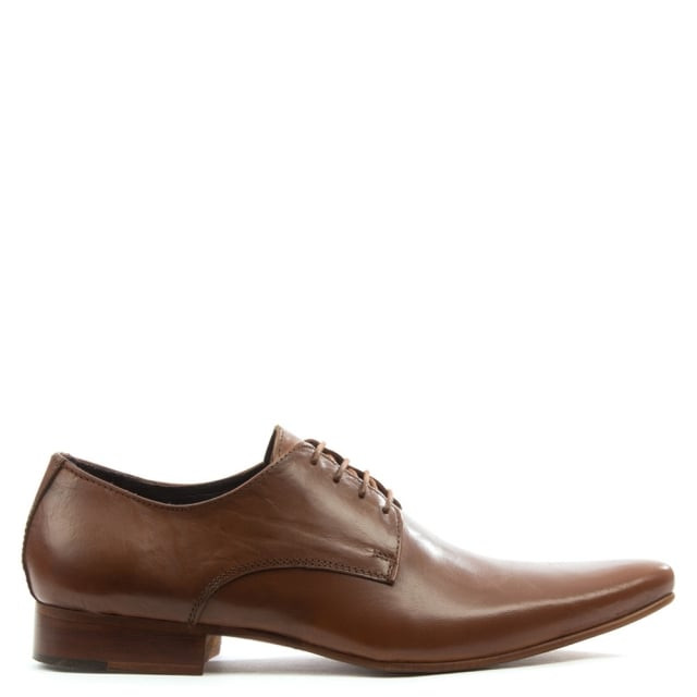 Gucinari Tan Leather Smart Lace Up Shoe