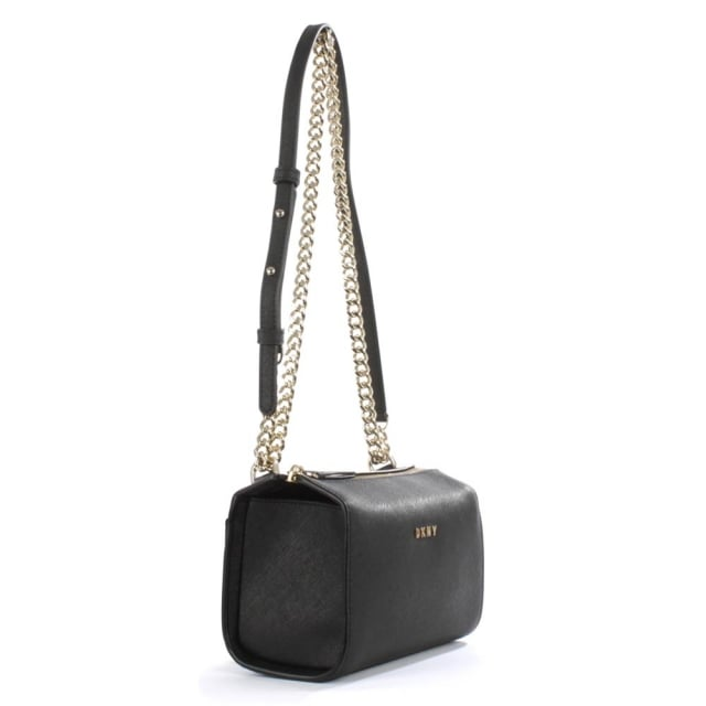 DKNY Bryant Black Saffiano Leather Cross-Body Bag