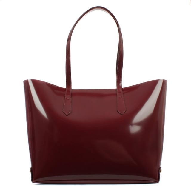 Vivienne Westwood Anglomania Newcastle Burgundy Leather Shopper