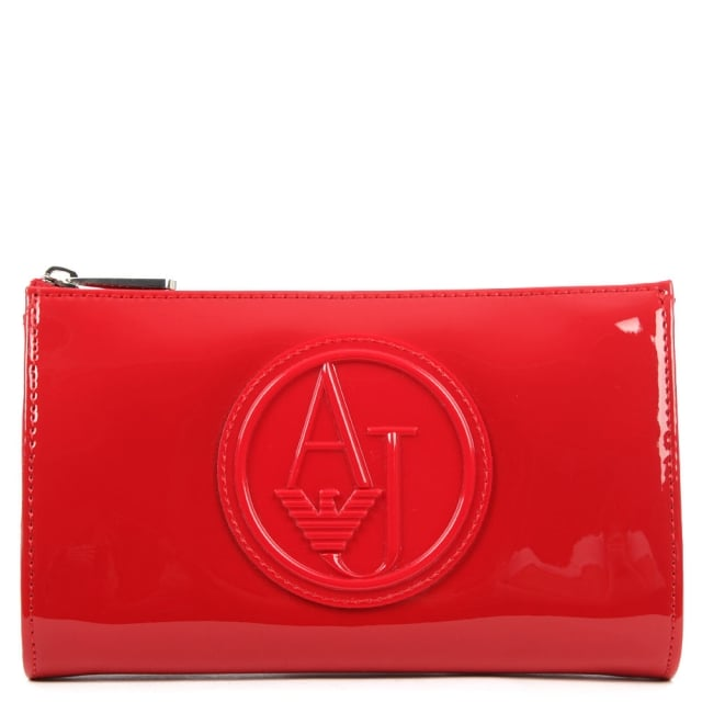 Armani Jeans Beautified Red Patent Cross-Body Bag
