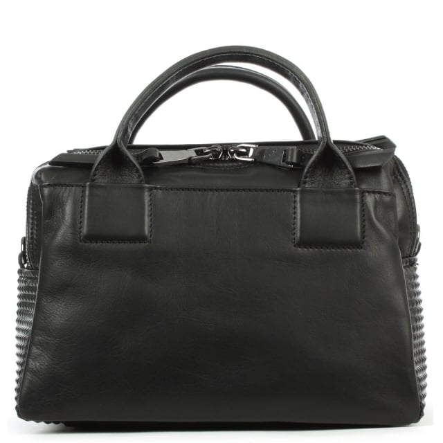Daniel Mini Black Leather Grab Bag