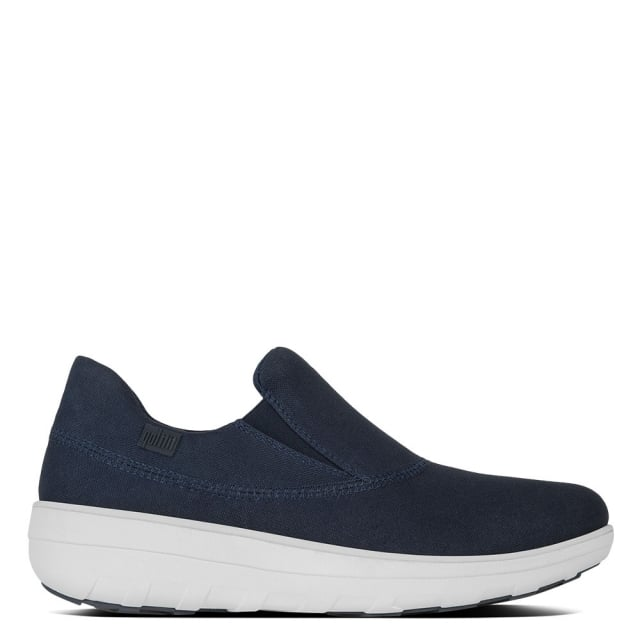 FitFlop Loaff Navy Canvas Sporty Slip On Sneaker