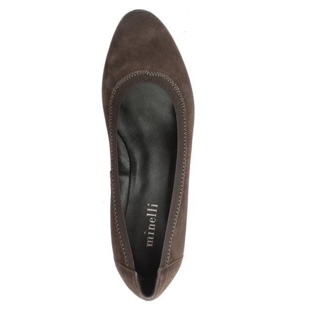 Lamica Taupe Suede Low Wedge Shoe