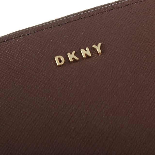 DKNY Bryant Park Oxblood Leather Large Zip Around Wallet