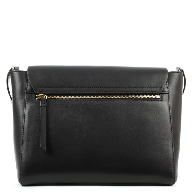 DKNY Greenwich Black Leather Pocket Messenger