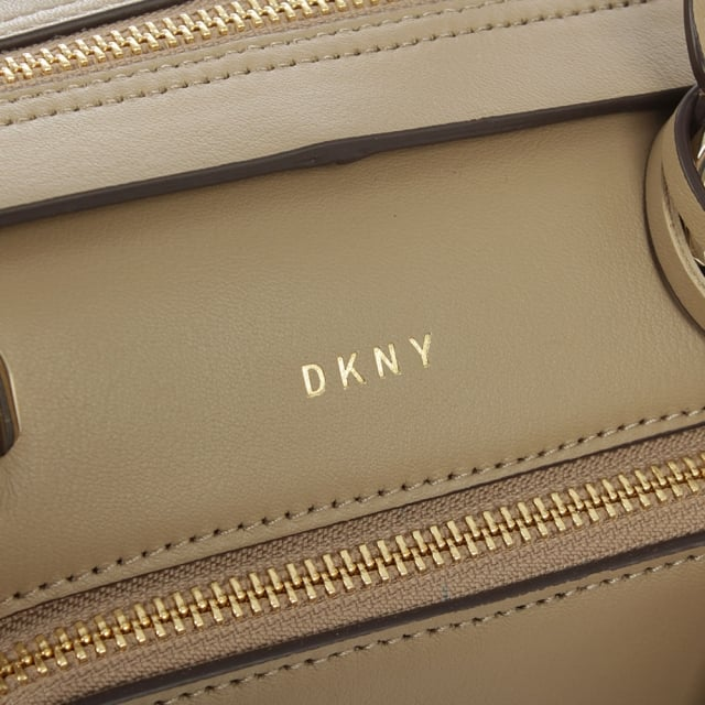 DKNY Greenwich Natural Leather Pocket Satchel