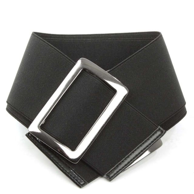 Daniel Black Elastic Buckle Boot Belt