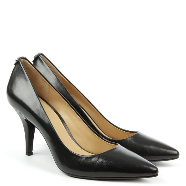 Michael Kors Flex Mid Black Leather Pump