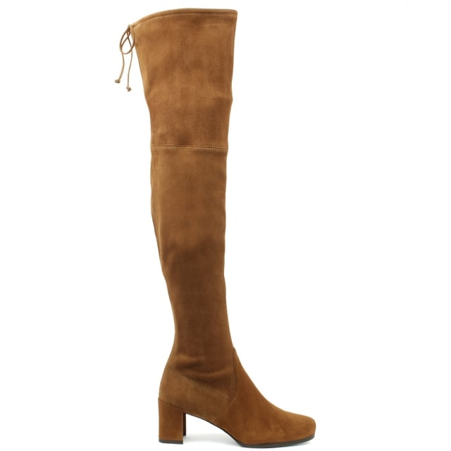 Stuart Weitzman Hinterland Tan Suede Block Heel Over The Knee Boot