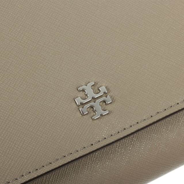 Tory Burch Robinson Grey Leather Chain Wallet