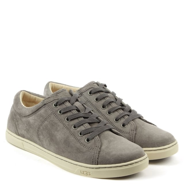 UGG Tomi Pewter Suede Lace Up Trainer
