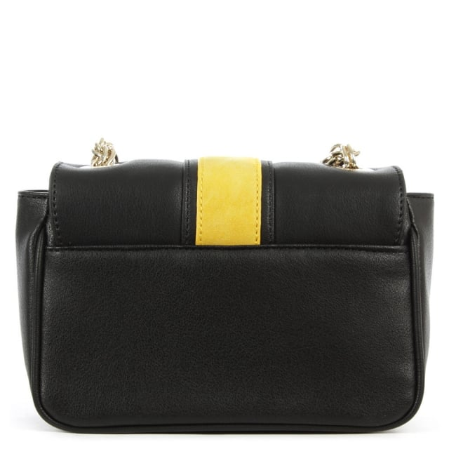 Versace Jeans Lexington Black Contrast Chain Handle Shoulder Bag